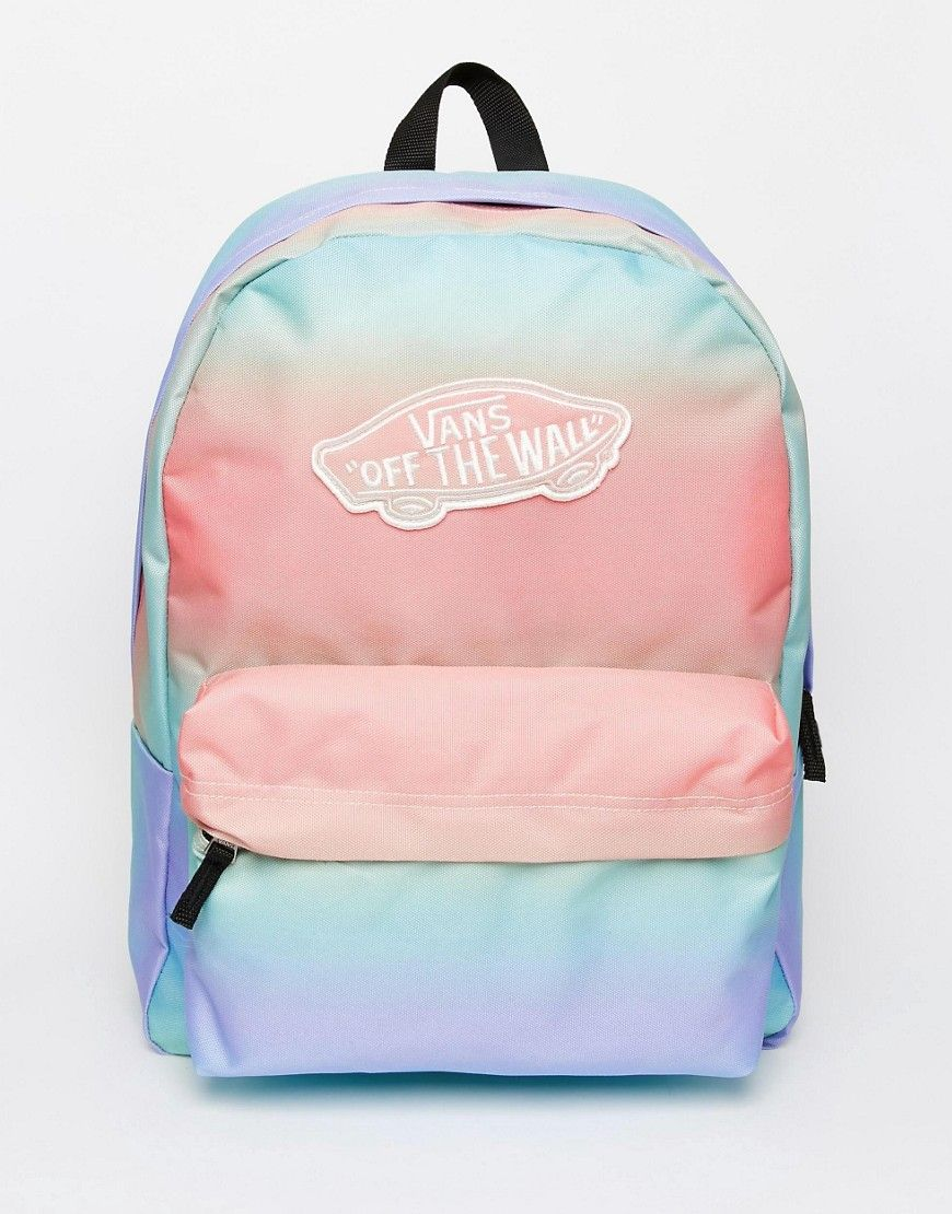 38b5180454112 Vans+Backpack+in+Pastel+Ombre+Stripe | Fashion | Vans bags, Vans ...