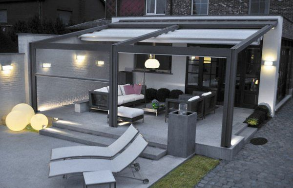 pergola metall terrassen berdachung sichtschutz garten und terasse pinterest pergola. Black Bedroom Furniture Sets. Home Design Ideas