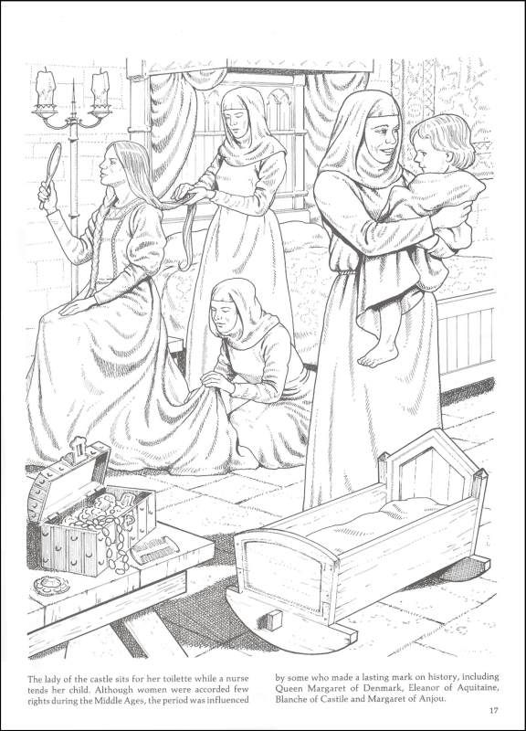 Life In A Medieval Castle Village Coloring 014368 Images Coloring Book Art Coloring Books Disney Coloring Pages