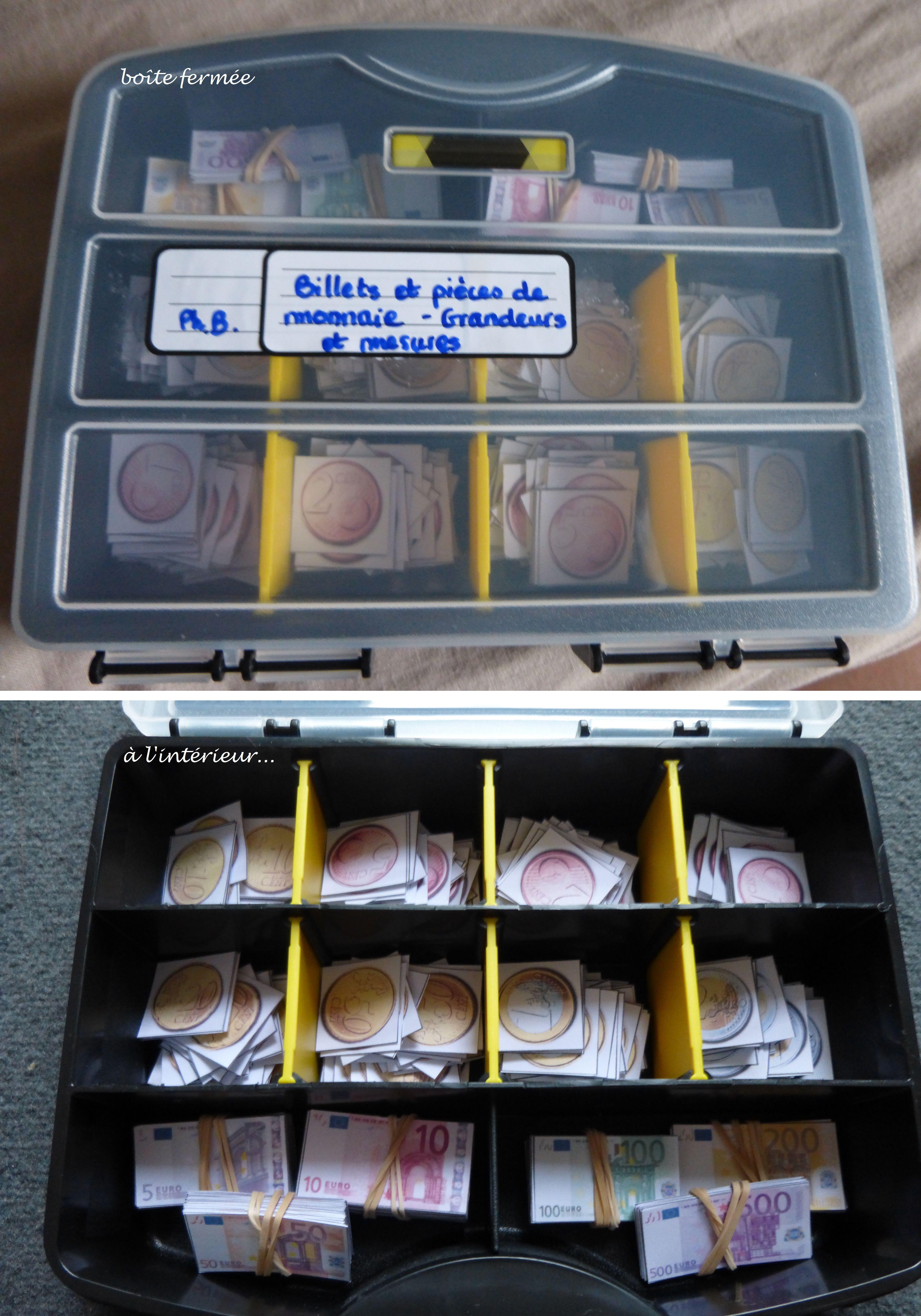 Boite De Rangement Avec Compartiments Pour Le Bricolage A La Base Ou Je Range Les Pieces Billets En Papiers Pour Les Sea Boite Boite De Rangement Monnaie
