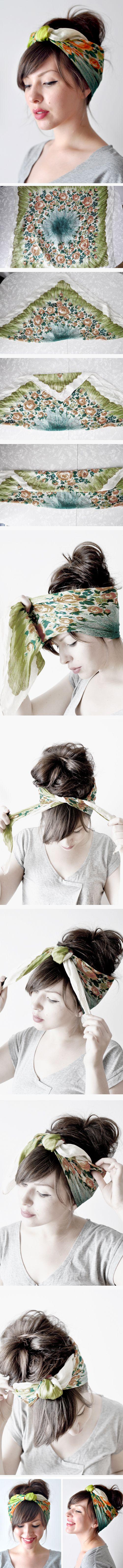 Head scarf.. SO cute