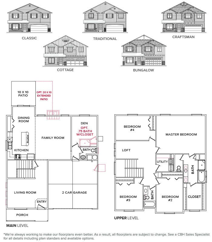 Columbia 2530 St155 Floor Plans How To Plan Craftsman Cottage