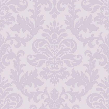Homebasecouk En Homebaseuk Rasch Glitter Damask Wallpaper Lilac 960555
