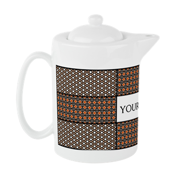 Personalized Name Tile Pattern Teapot