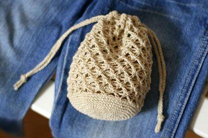 麻の葉きんちゃくの作り方 編み物 編み物・手芸・ソーイング アトリエ