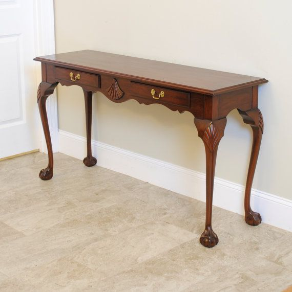 mahogany hall table. Henkel Harris Mahogany Hall Table / Console By PrettyRuggedDesigns