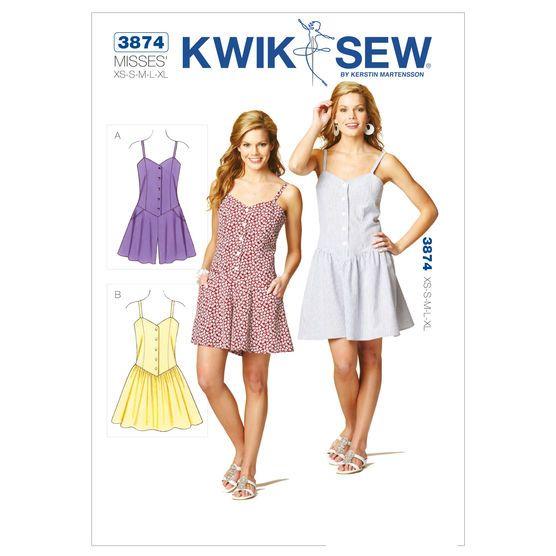 Mccall Pattern K3874 Xs-S-M-L-X-Kwik Sew Pattern | The Sewing ...