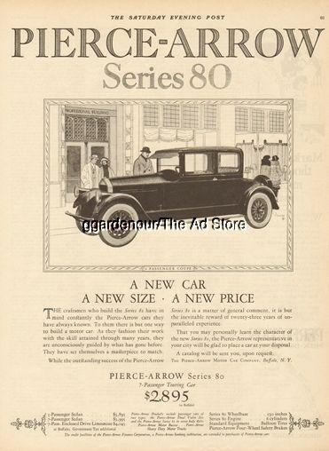 1924 Pierce Arrow Motor Car Buffalo Ny Series 80 Coupe Harry Timmins Art Ad Motor Car Timmins New Cars