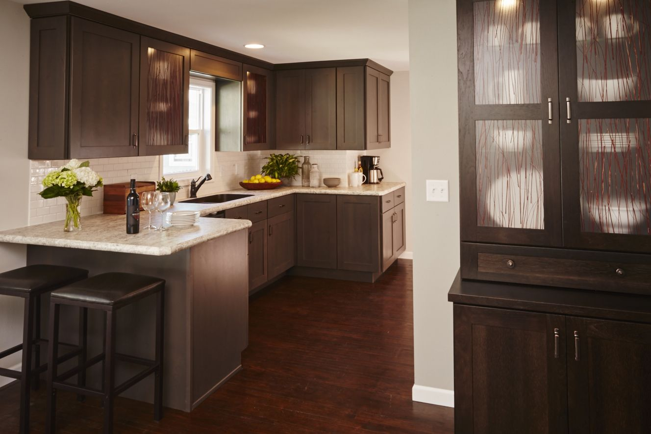 Gray Stained Kitchen Cabinets Gray Kitchen Cabinets From Breeze By Woodharbor Custom Cabinetry
