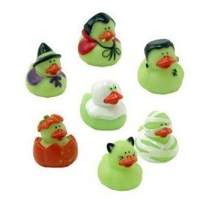 12 Mini Halloween Rubber Ducks Duckies Gid Party Favors