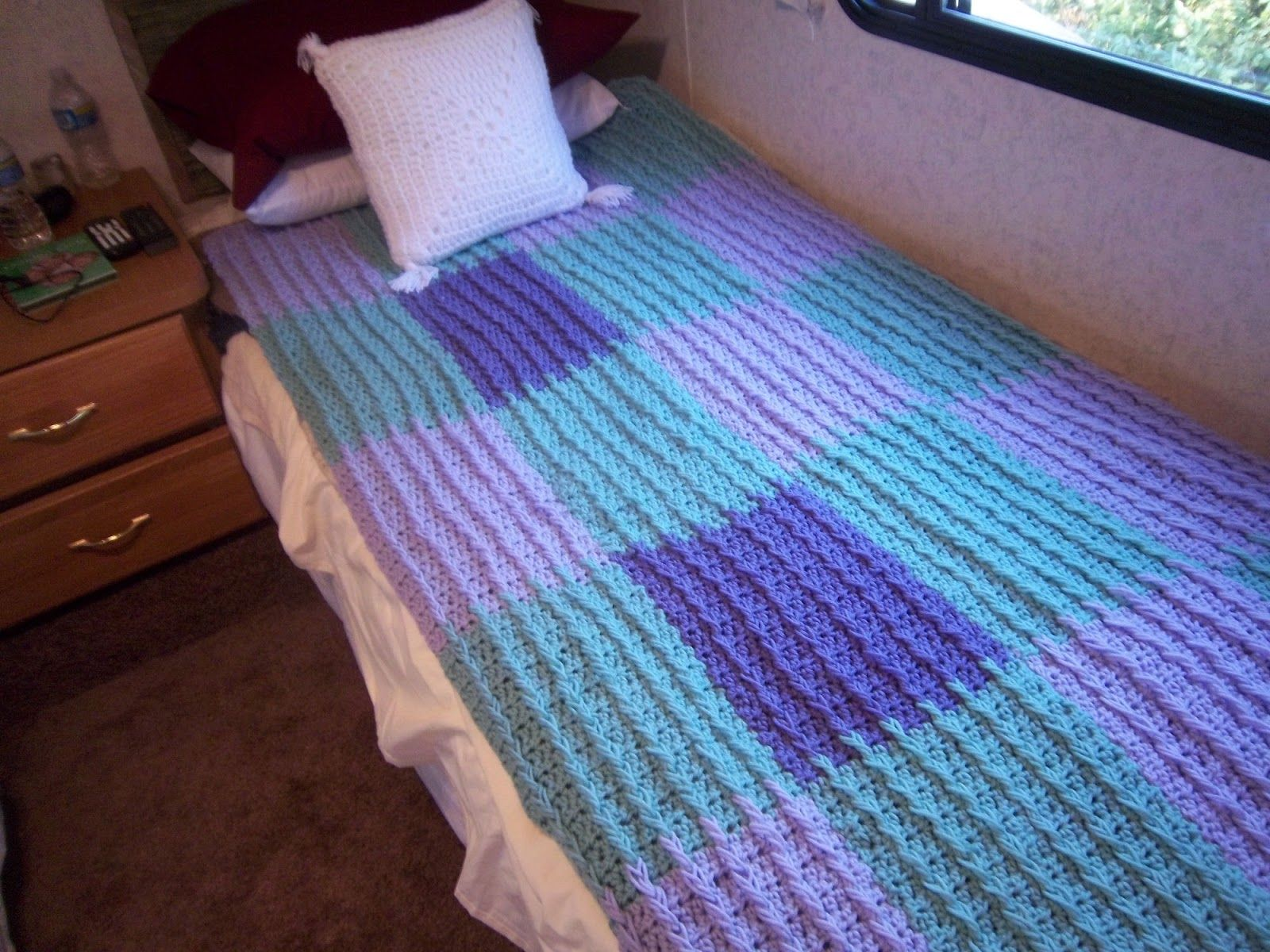 Easy raised rib twin size blanket afghan colorful cozy crochet easy raised rib twin size blanket afghan crocheted dt1010fo