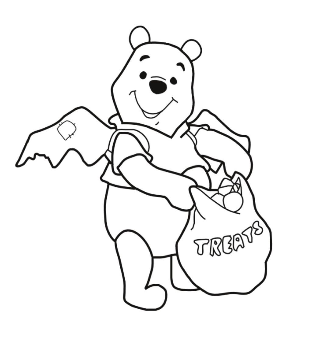 Winnie the pooh coloring pages halloween winnie the pooh coloring