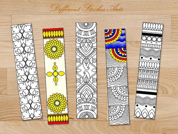 Printable Bookmarks Coloring For Adults Great Handmade Gifts
