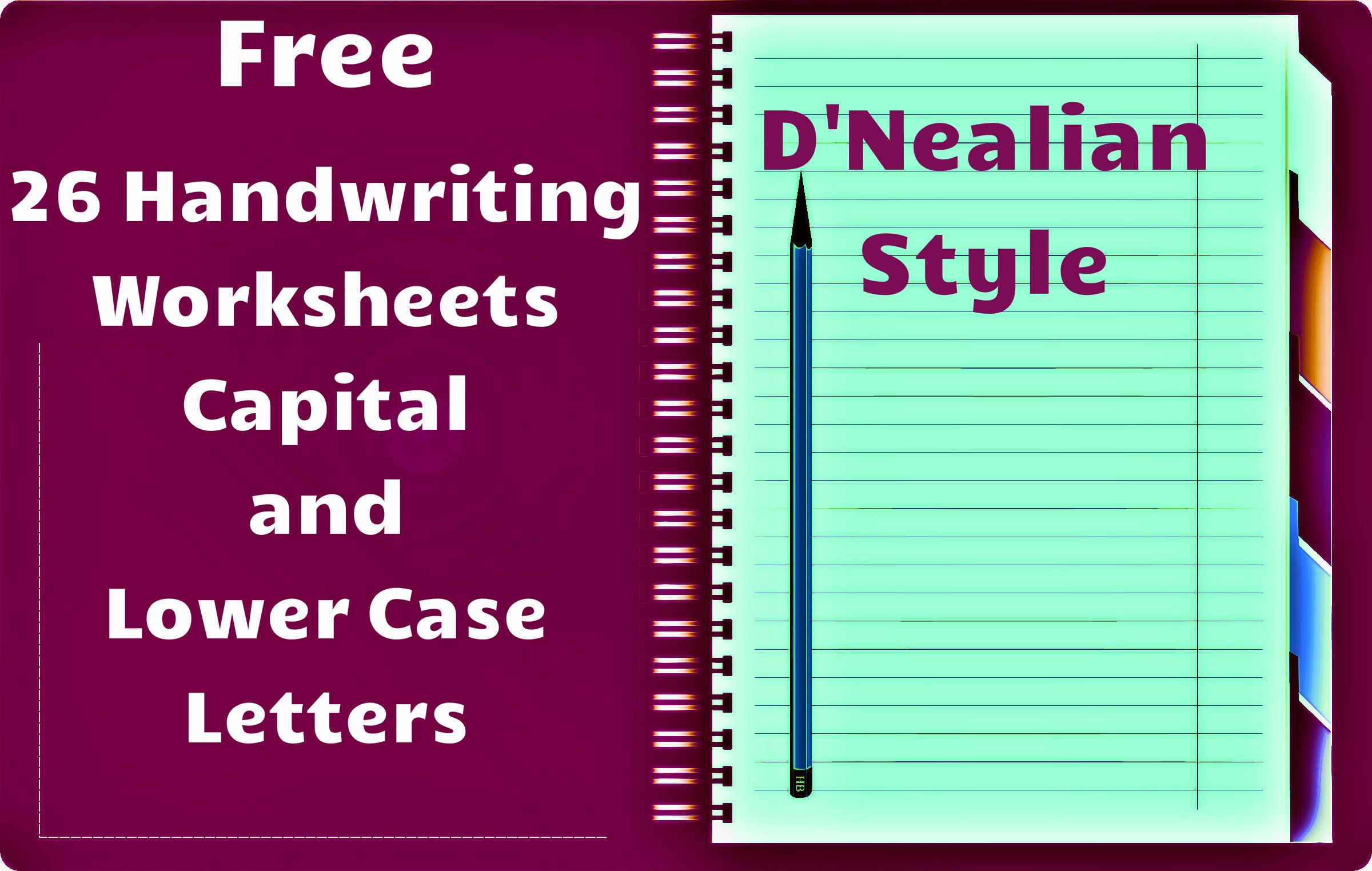 Free Handwriting Worksheets Includes Worksheets For All Capital As Well As Lower Case Letters