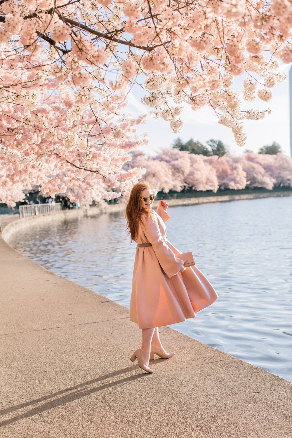 My Journey To The Dc Cherry Blossoms Pret A Provost Cherry Blossom Outfit Cherry Blossom Pictures Spring Photoshoot