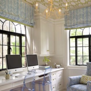Homework room. Love the ceiling and ghost chairs! Nurserynotations.com