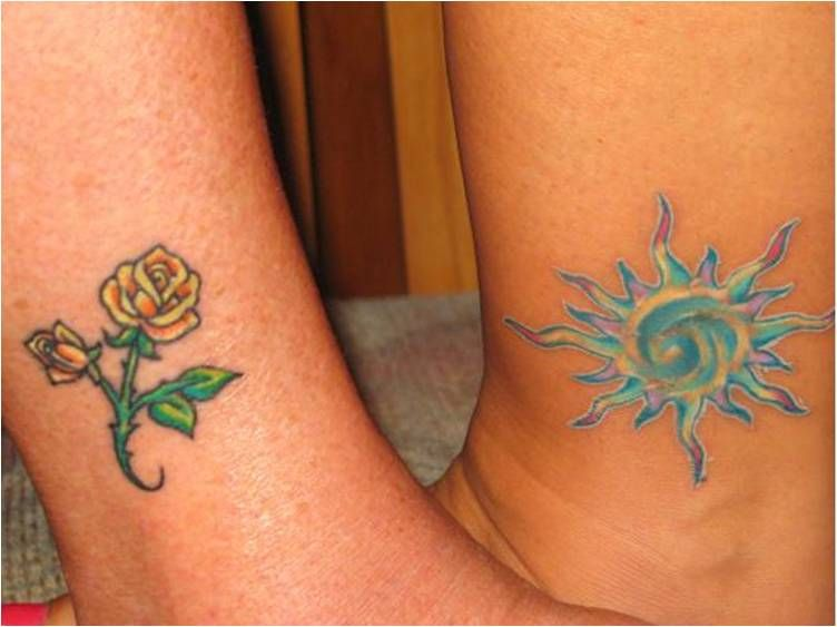tiny yellow rose tattoo | Blue Aquarius Unique Tattoo ...