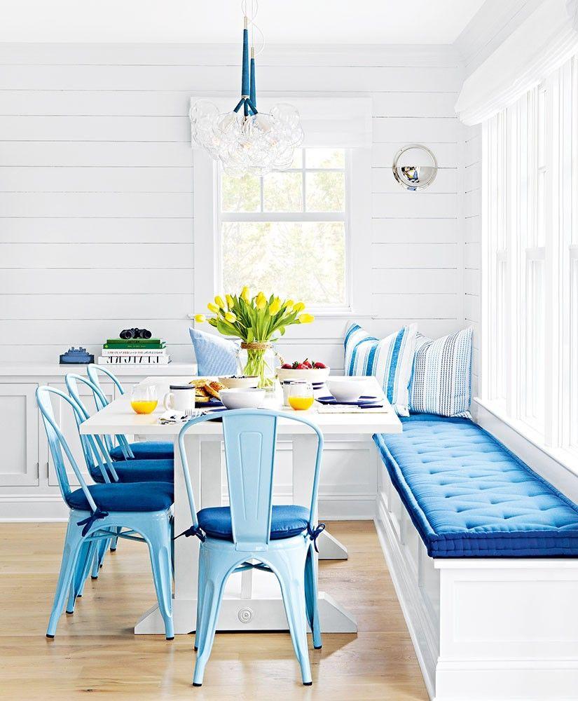 Blue and white beach cottage kitchen beach cottage in