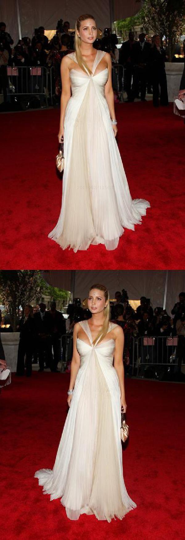 Sale great white dress ivanka trump white chiffon handsewn prom