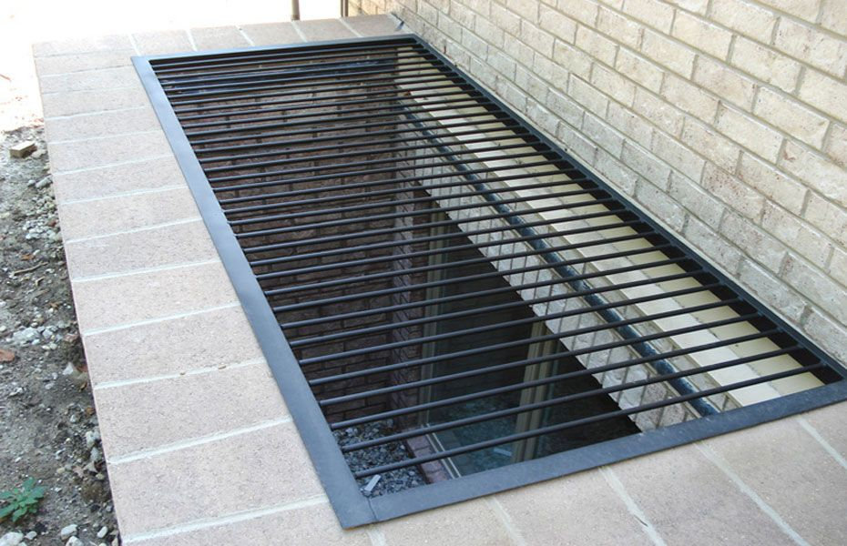Grating Galvanized Jpg 930 600 Window Well Window Well Cover Window Grill Design