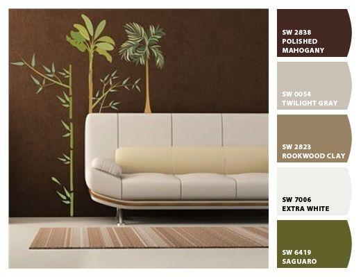 Combinacion decoracion interiores gris cafe y verde   buscar con ...