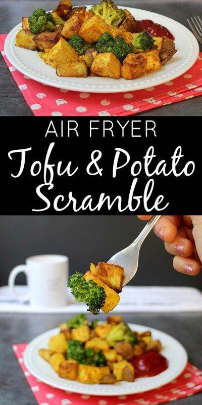 Air Fryer Tofu Scramble