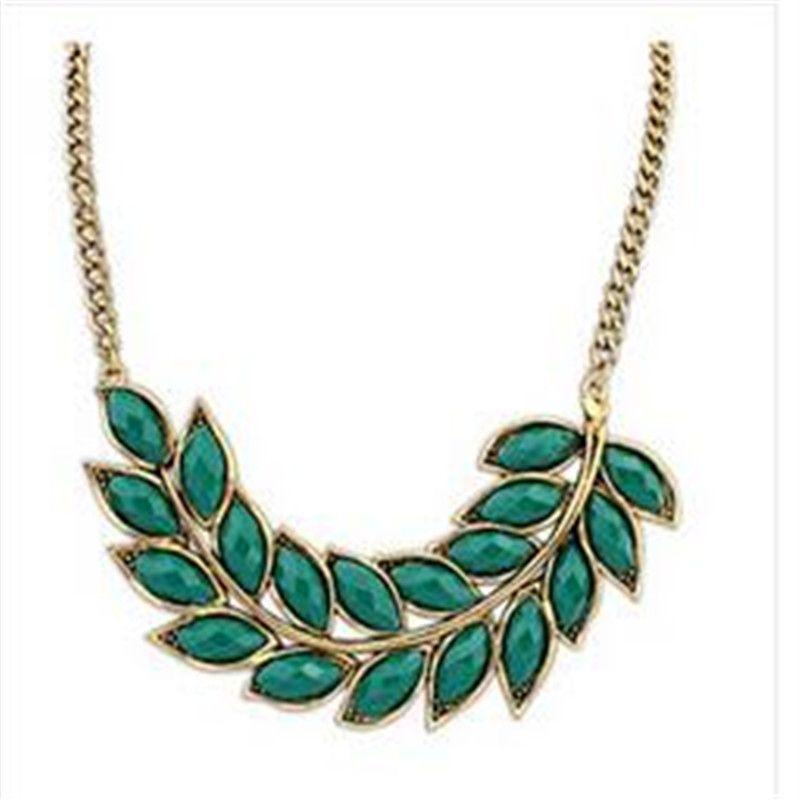 Vintage sieraden leaf choker ketting voor vrouwen 2015 nieuwe verklaring kraag kettingen mooie kwaliteit
