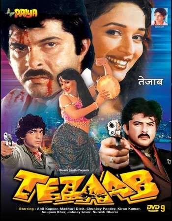 Poster Of Tezaab 1988 Hindi 500mb Hdrip 480p Free Download