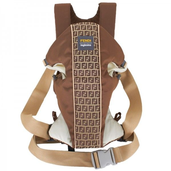 Fendi Brown Branded Baby Carrier At Alexandalexa Com Baby Carrier Fendi Baby Accessories