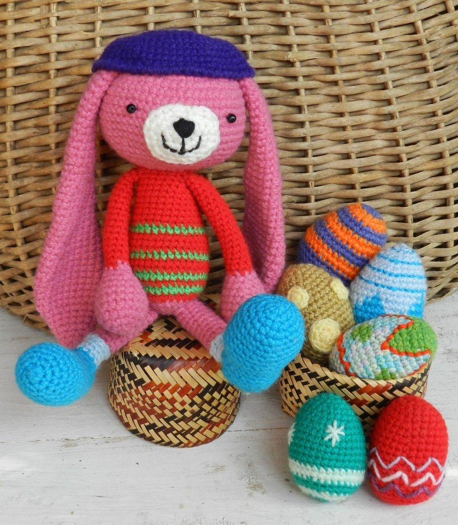 daxa rabalea: Huevos y conejito de Pascuas + patrón | Crochet ...