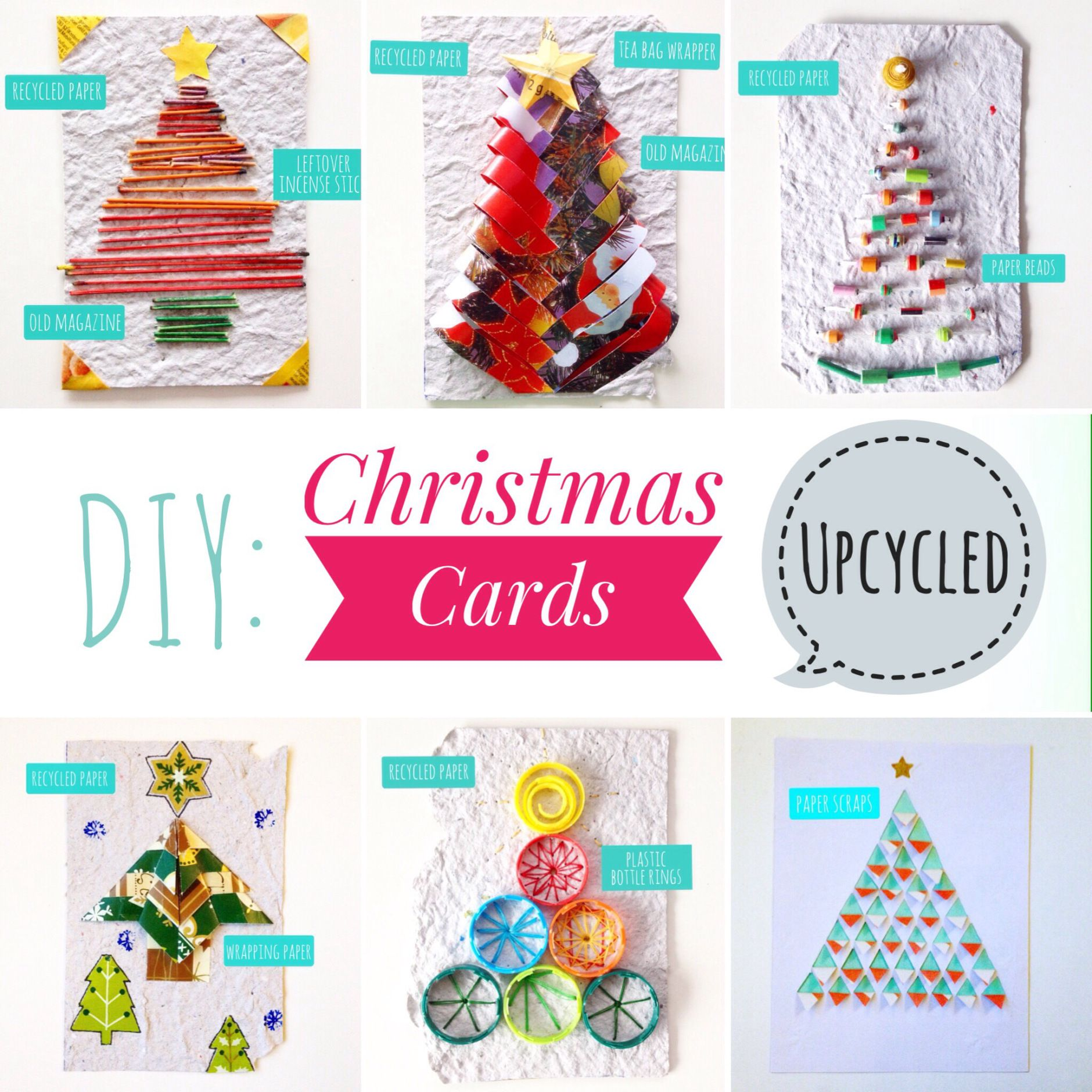 DIY: Recycled Christmas Cards | ecogreenlove | Upcycled | Recycling ...