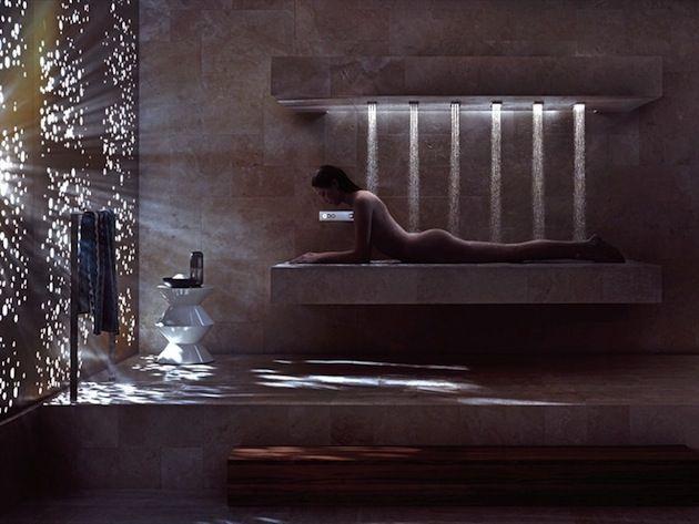 Horizontal shower by dornbracht! da dornbracht arriva la doccia