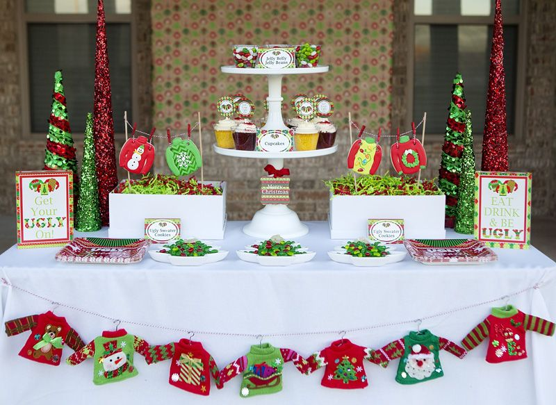 Superb Tacky Sweater Christmas Party Ideas Part - 4: Ugly Sweater Party - Fun Tacky Sweater Christmas Party With Printables