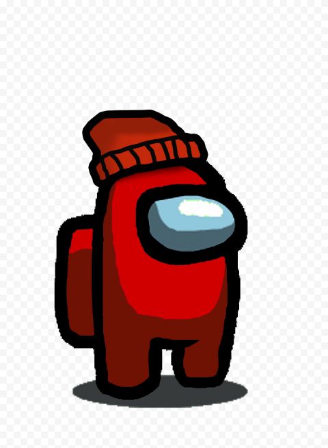 Hd Red Among Us Character With Beanie Hat Png Citypng In 2020 Beanie Hats Character Red Beanie