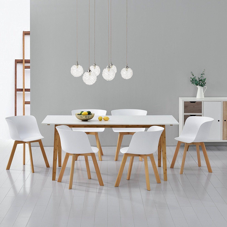Exquisit Esstisch Küche Referenz Von [en.casa]® Mit 6 Stühlen Weiß 180x80 Küchentisch