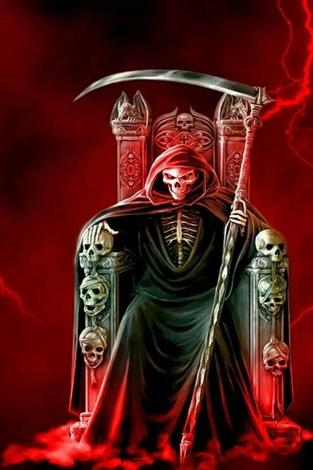 Pin By Murl Hazen On Angel Of Death Grim Reaper Art Black Skulls Wallpaper Skull Pictures