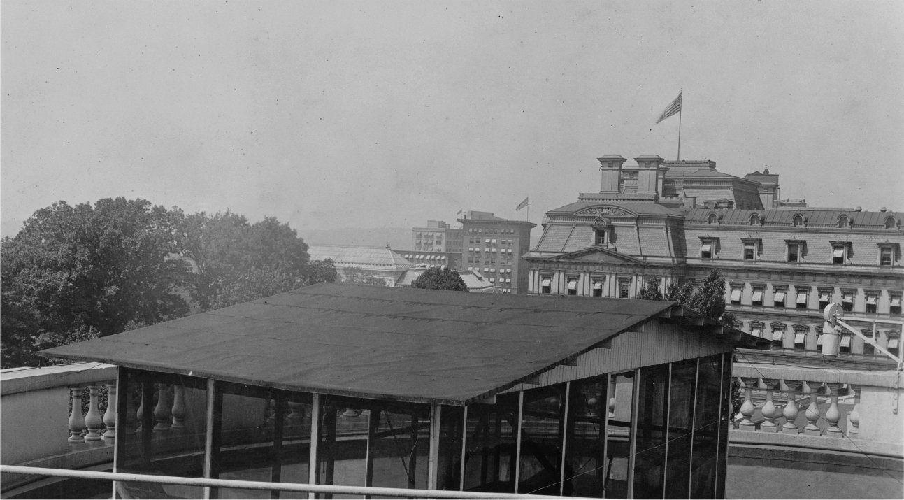 1909 1913 President Taft's sleeping porch on the White
