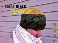 87c83aa40 Ravelry: Color Block Beanie pattern by Tia Davis | *!CROCHET ...