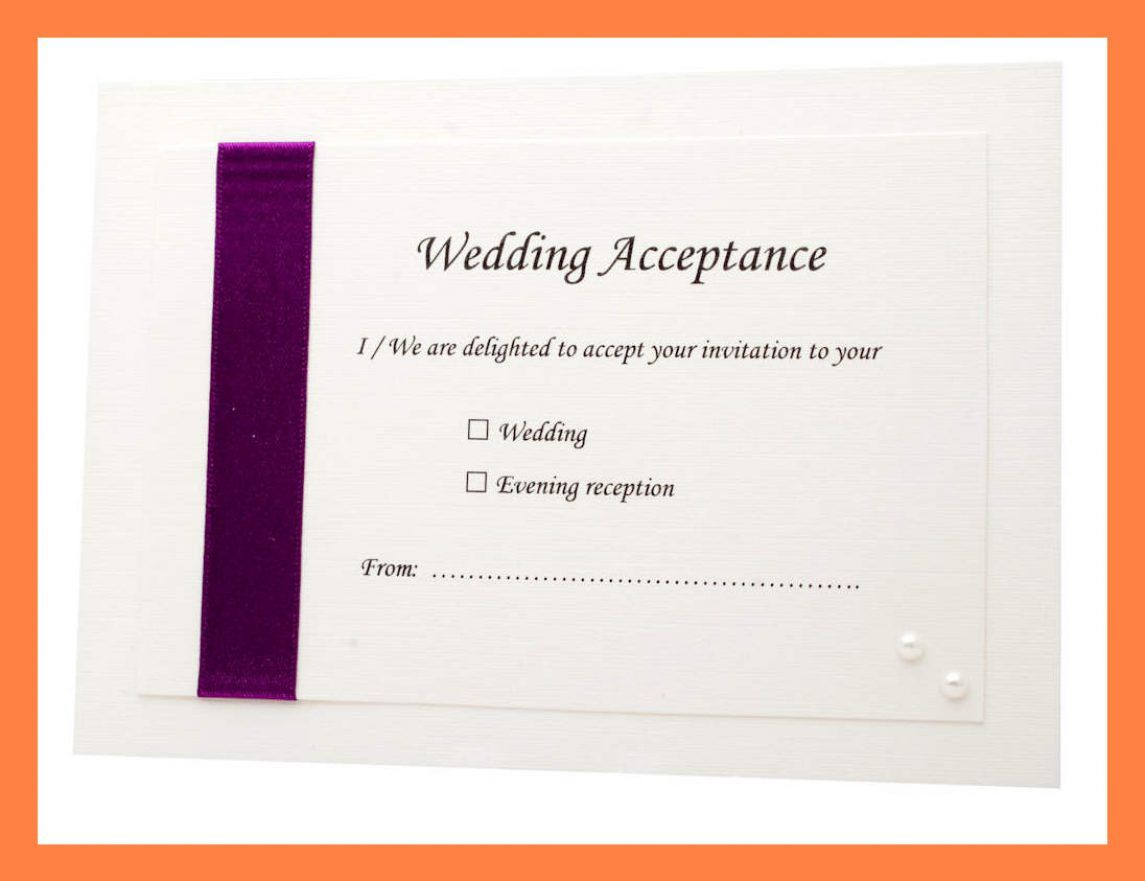 The Excellent Acceptance Card Template Full Wedding 20 Acceptance 20 Card Inside Acc Graduation Invitations Template Rsvp Cards Wording Wedding Acceptance Card