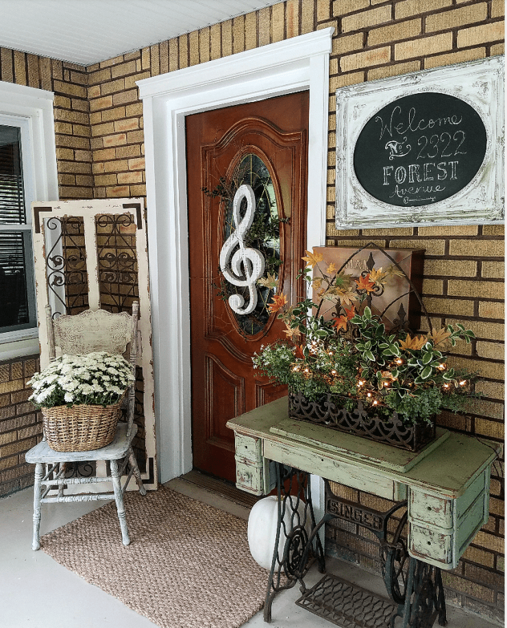 Beautiful Fall Home Tour Harvest Home Blop Vintage Fall Decor