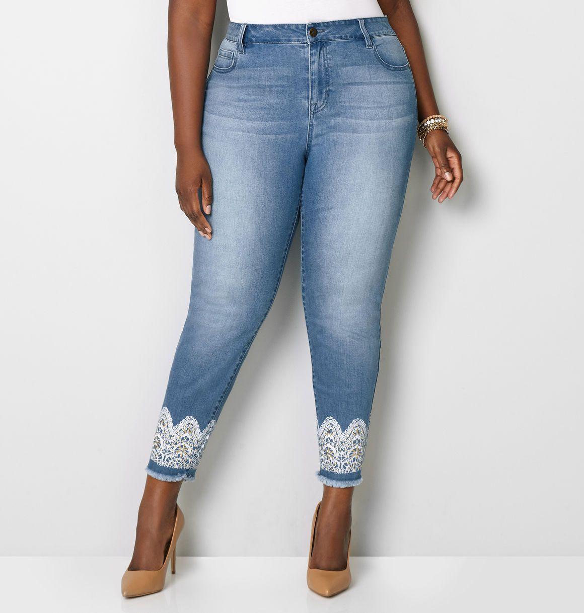 0f6511276 1432 Frayed Lace Skinny Jean1432 Frayed Lace Skinny Jean