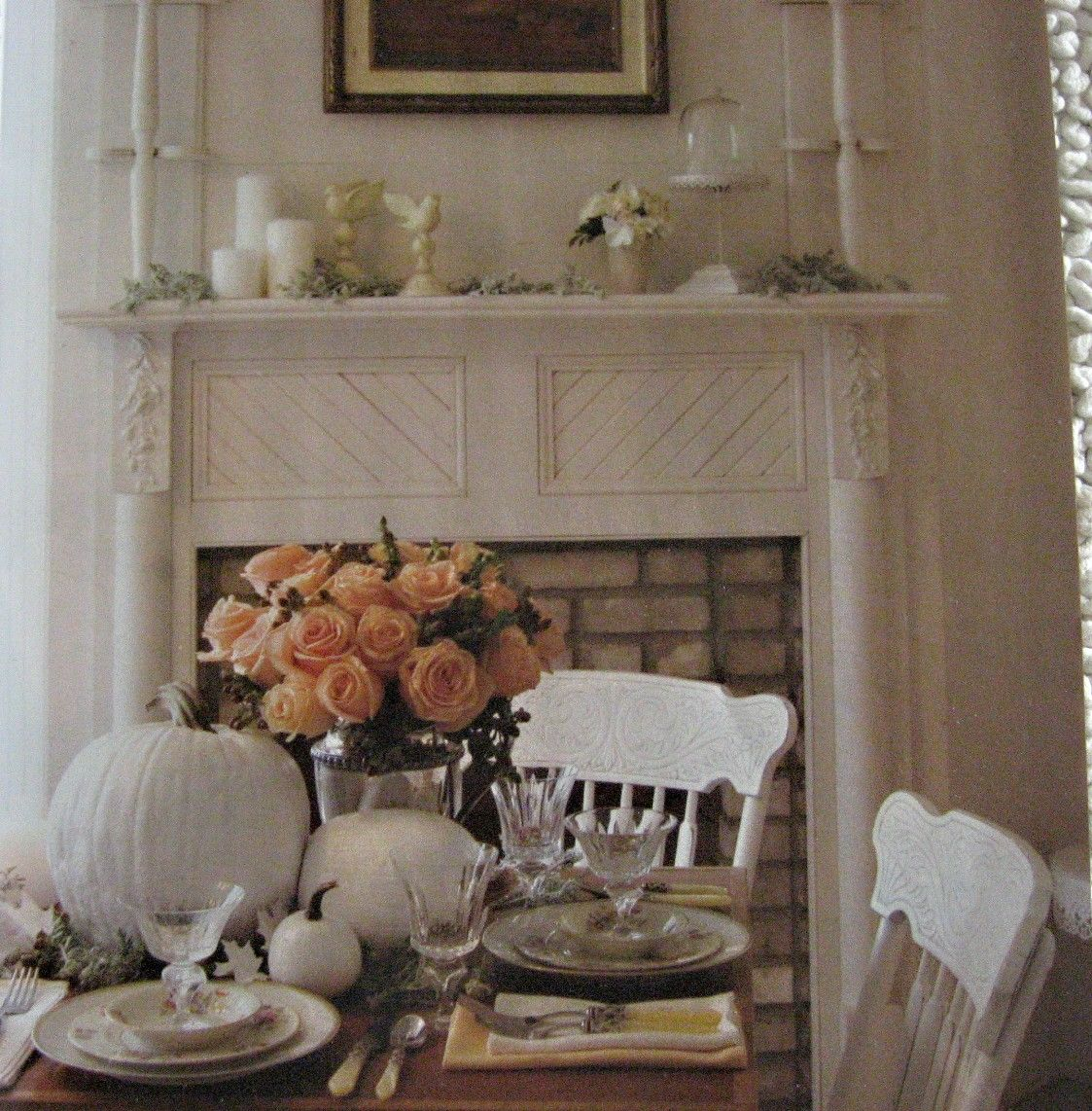 More Shabby Chic Halloween Interior Decor Ideas: Shabby Chic Fall Decorations