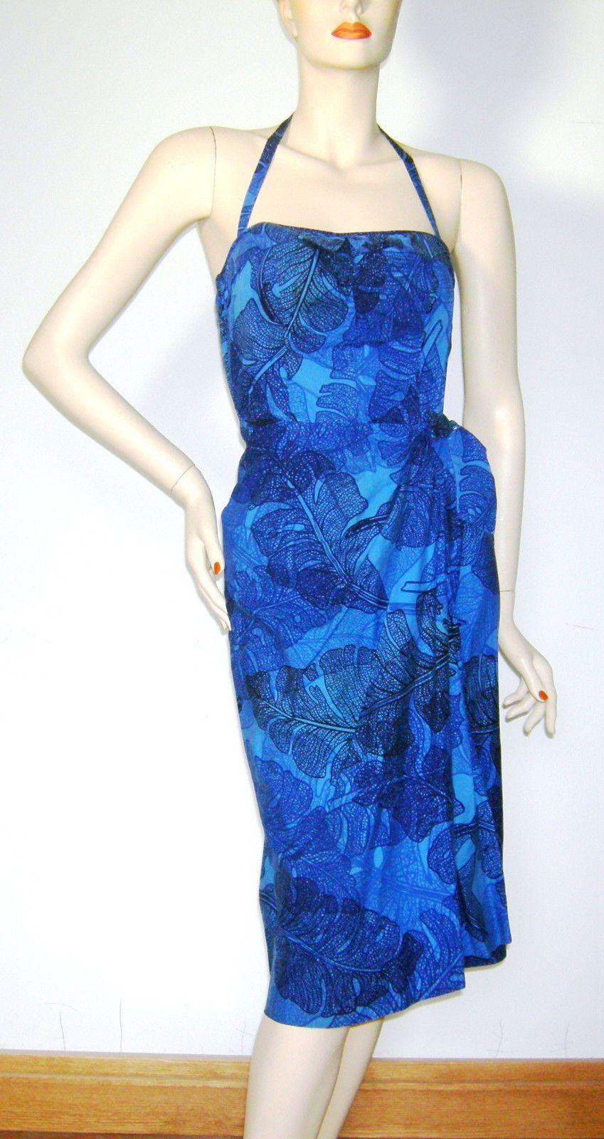 Awesome awesome vintage s hawaiian sarong pinup girl dress