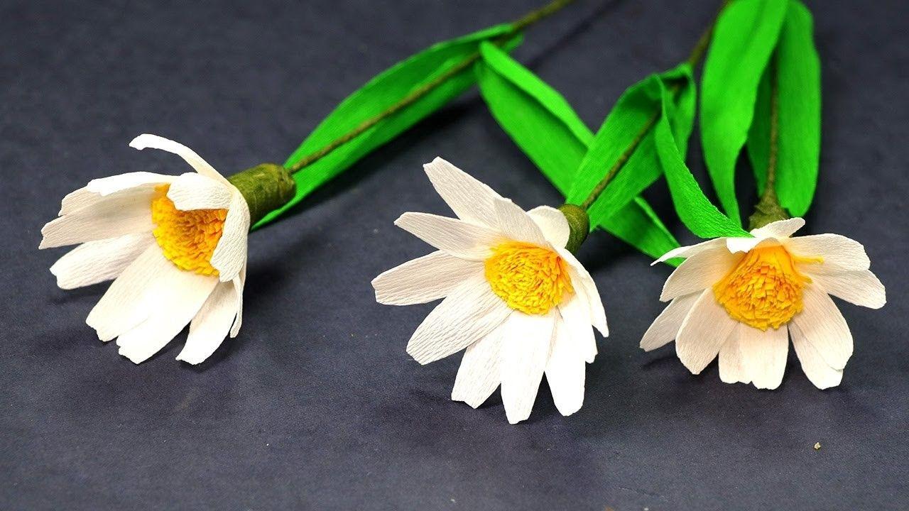 Paper Flower Making Paper Daisies Diy Tutorial Diy Tutorial