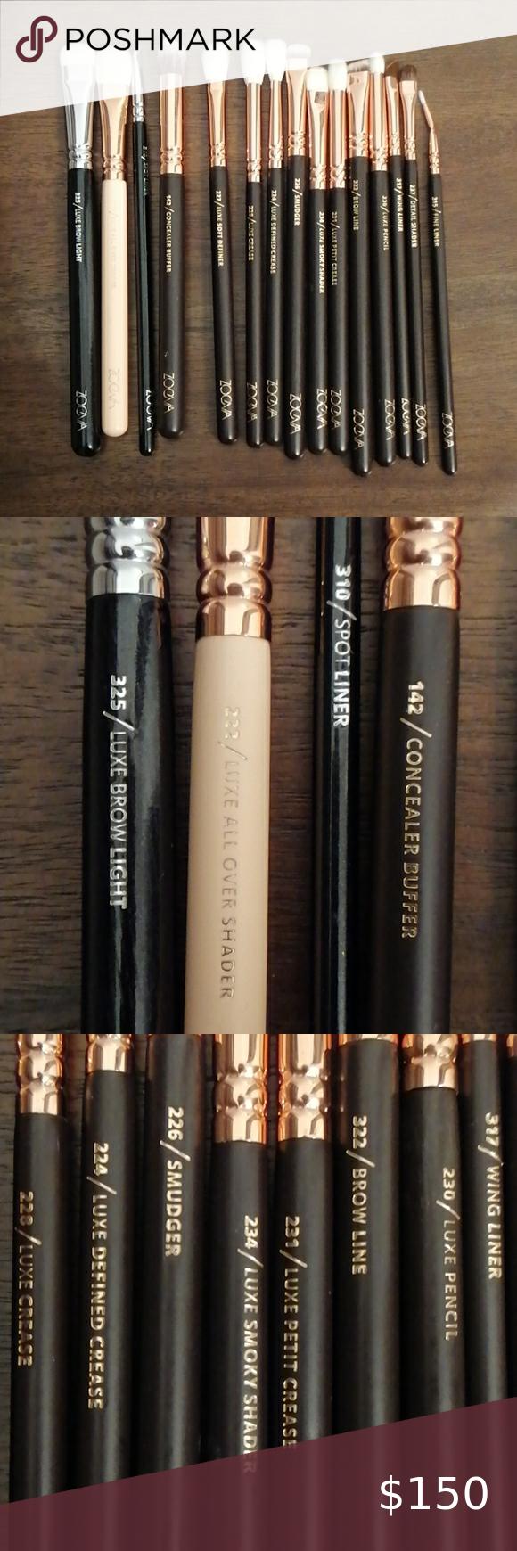 Zoeva eyeshadow brushes in 2020 Eyeshadow brushes
