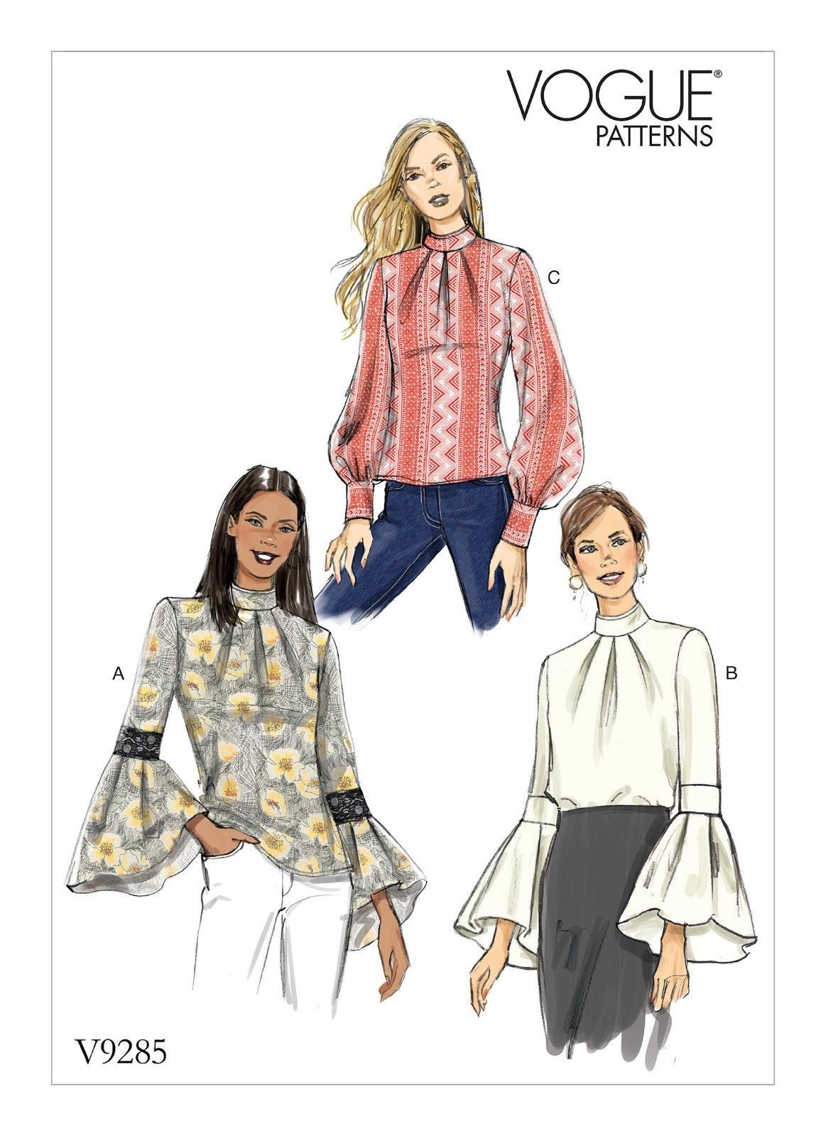 V12 Sewing Pattern Vogue 12 Easy Miss Tops Loose Fitting ...