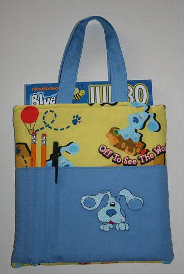 Blues Clues Crayon Tote Bag, Crayon Holder, Coloring Book Bag ...