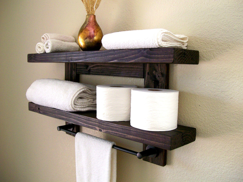Floating Shelves Floating Shelf Wood Shelves Bathroom Shelves Oil ...