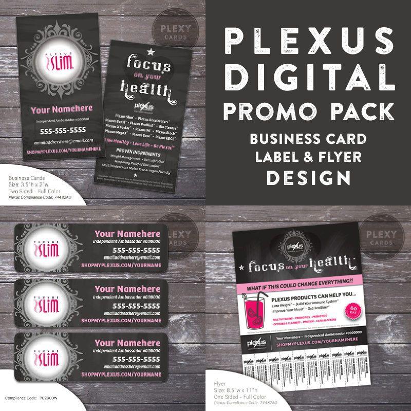 Plexus Chalkboard Design Promo Pack - Business Cards, Labels & Flyer ...