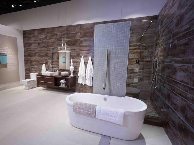 graffs luna tub filler on display at pirch san diego showroom